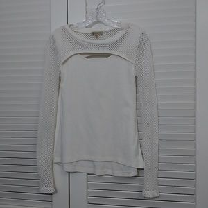 Democracy Open Weave Long Sleeved Tee Size Small